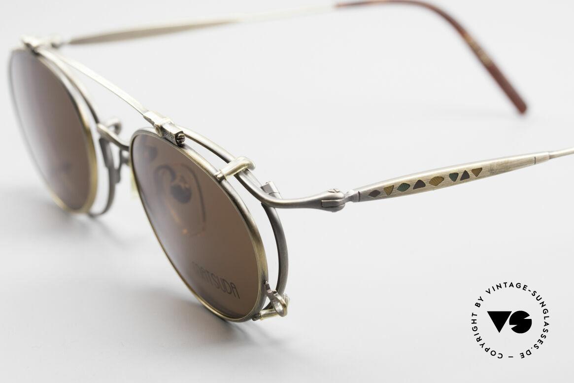 Matsuda 2853 Steampunk Vintage Brille, also einer Sicht auf die Zukunft, aus einer früheren Zeit, Passend für Herren