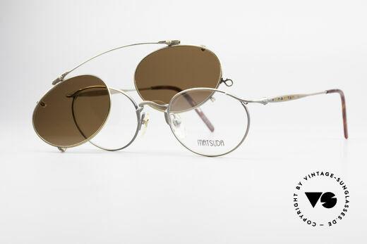 Matsuda 2853 Steampunk Vintage Brille, ungetragenes Einzelstück für Kunst- u. Modeliebhaber, Passend für Herren