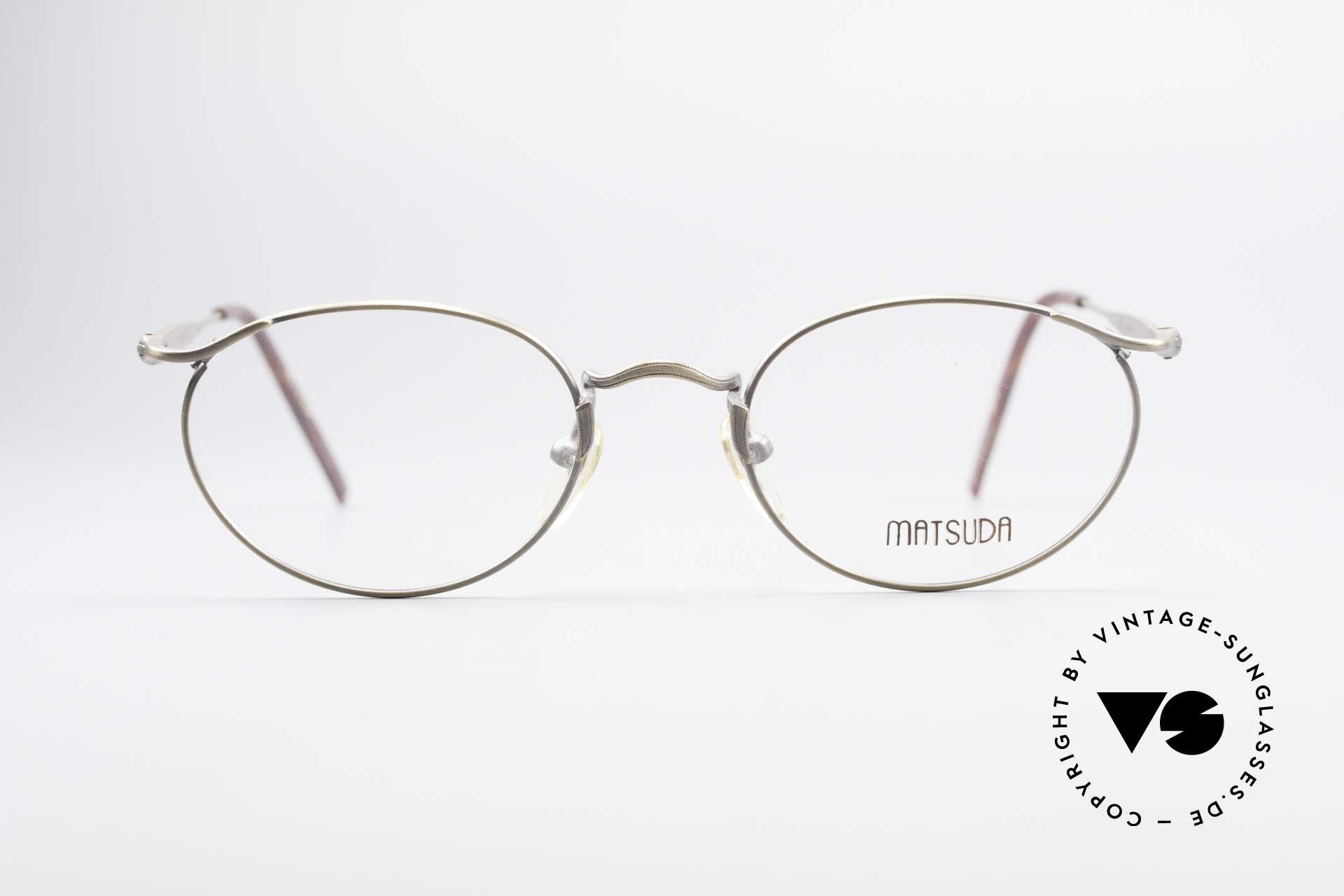 Matsuda 2853 Steampunk Vintage Brille, Größe: small, Passend für Herren