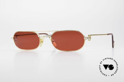 Cartier MUST Santos - M Luxus Sonnenbrille 3D-Rot Details