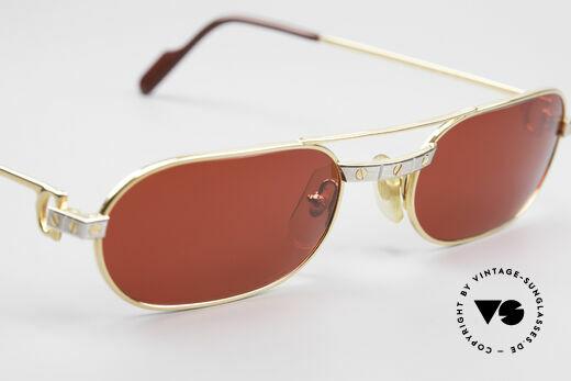 Cartier MUST Santos - M Luxus Sonnenbrille 3D-Rot