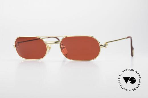 Cartier MUST LC - M 3D Rot Luxus Sonnenbrille Details