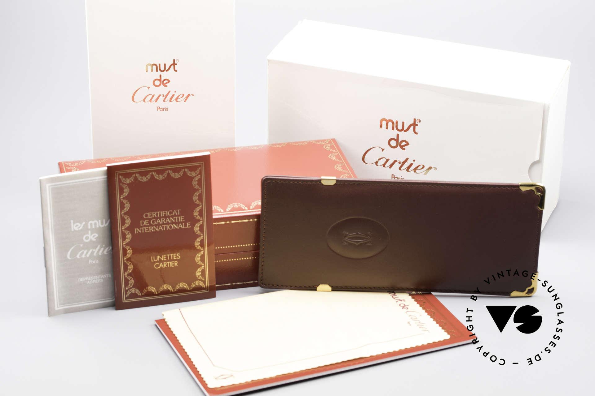 Cartier MUST LC - M 3D Rot Luxus Sonnenbrille, KEIN RETRO; ein 35 Jahre altes vintage ORIGINAL!, Passend für Herren