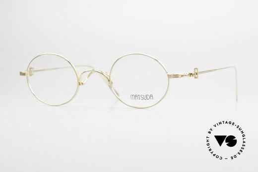 Matsuda 10107 Brille Vintage Rund Unisex Details