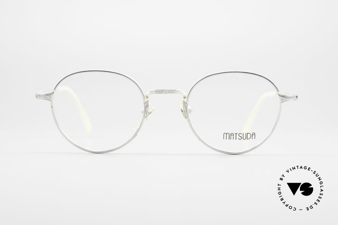 Matsuda 2858 Runde Vintage Designer Brille, fühlbar herausragende Top-Qualität aller Komponenten, Passend für Herren und Damen