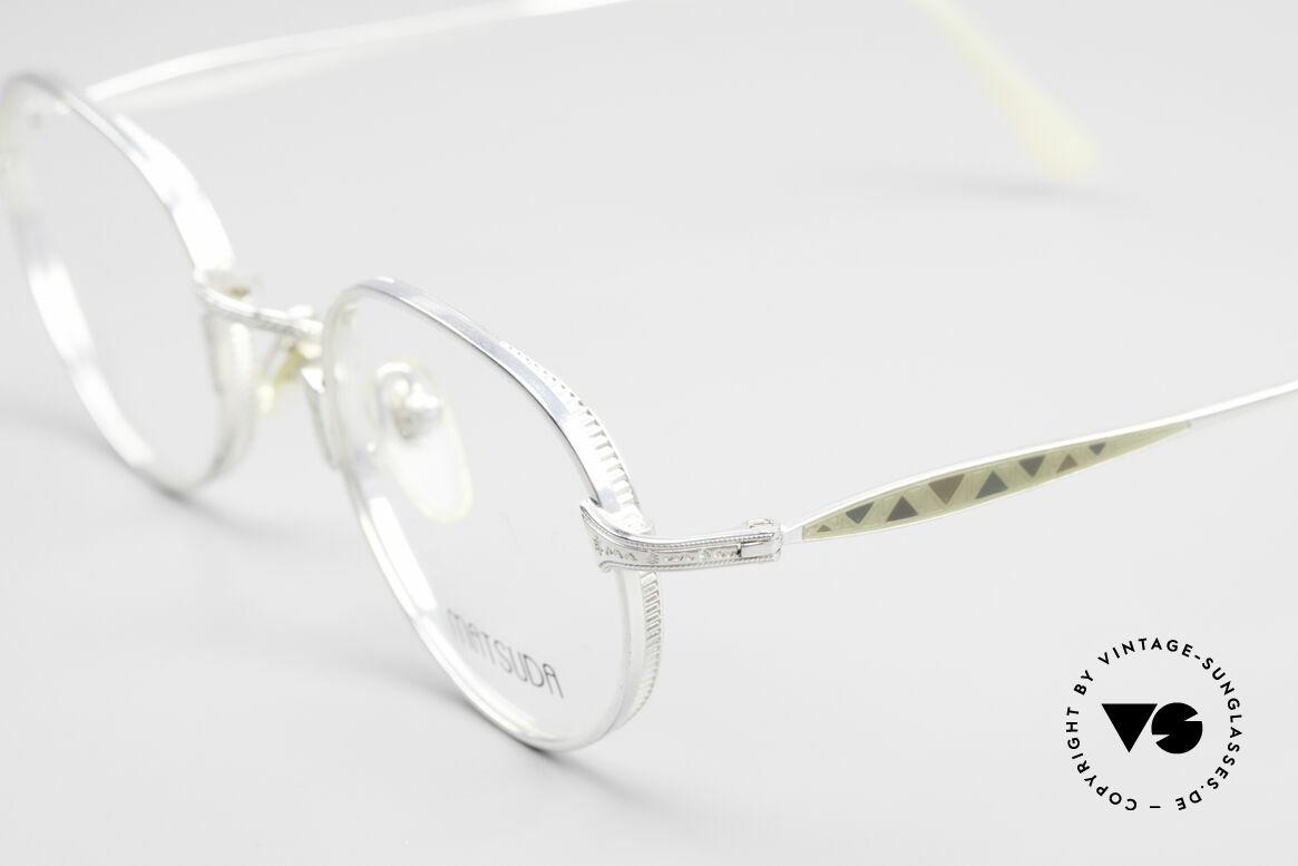 Matsuda 2858 Runde Vintage Designer Brille, sehr markante Gestaltung der Glasfassung, M Gr. 46-21, Passend für Herren und Damen