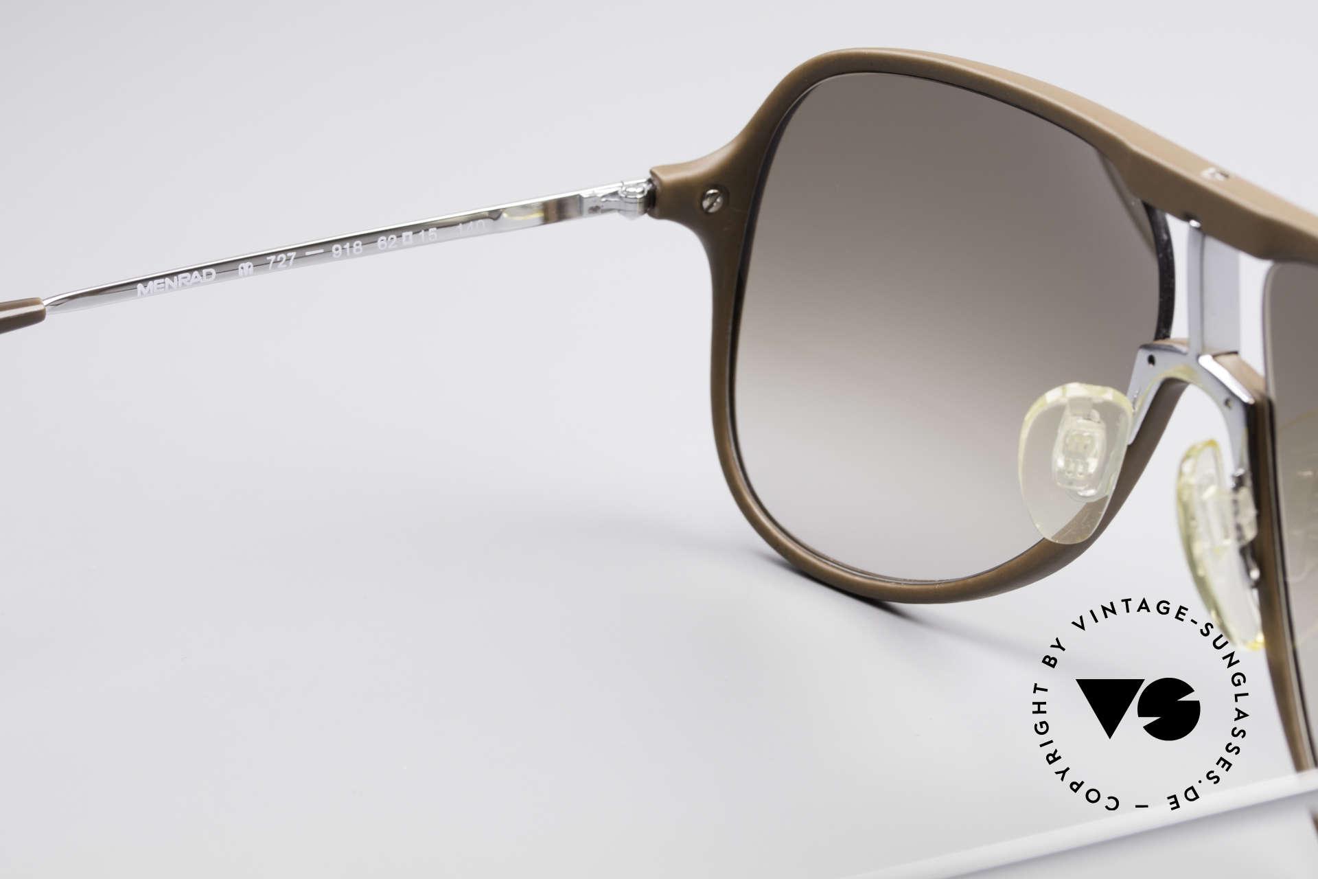 Menrad 727 80er Sonnenbrille Herren, Lieferung in einem neuen Hart-Etui von DonnaKaran, Passend für Herren