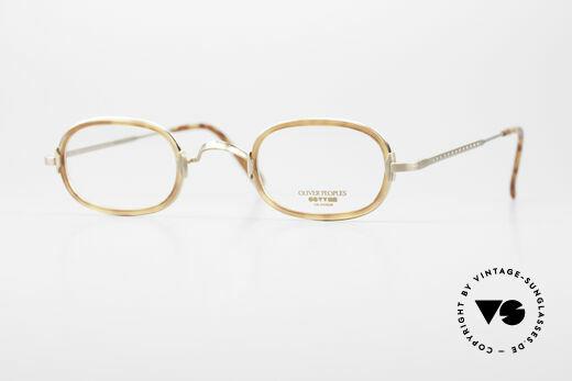 Oliver Peoples Fred Vintage Designer Brille Oval Details