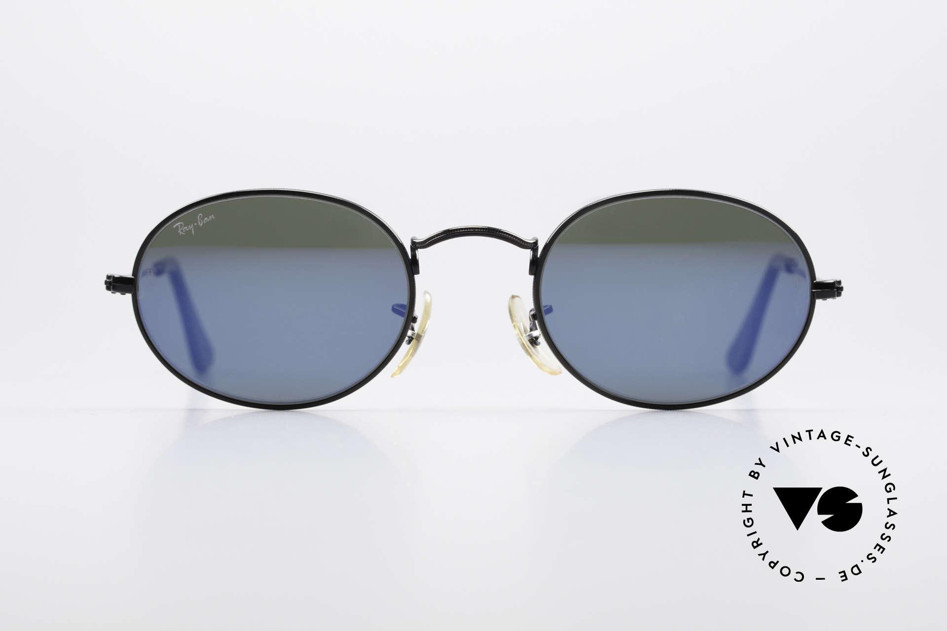 Vintage Retro Nerd Classic Herren Damen Sonnenbrille Blaugrün Verspiegelt UV 400