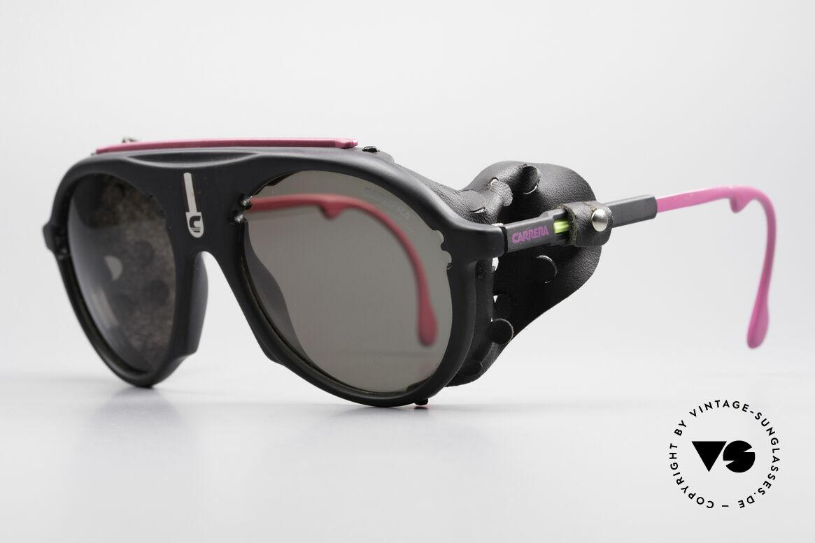 Carrera 5436 Water & Ice Gletscher Brille, sehr robuster Optyl-Rahmen & einstellbare Bügellänge, Passend für Herren und Damen
