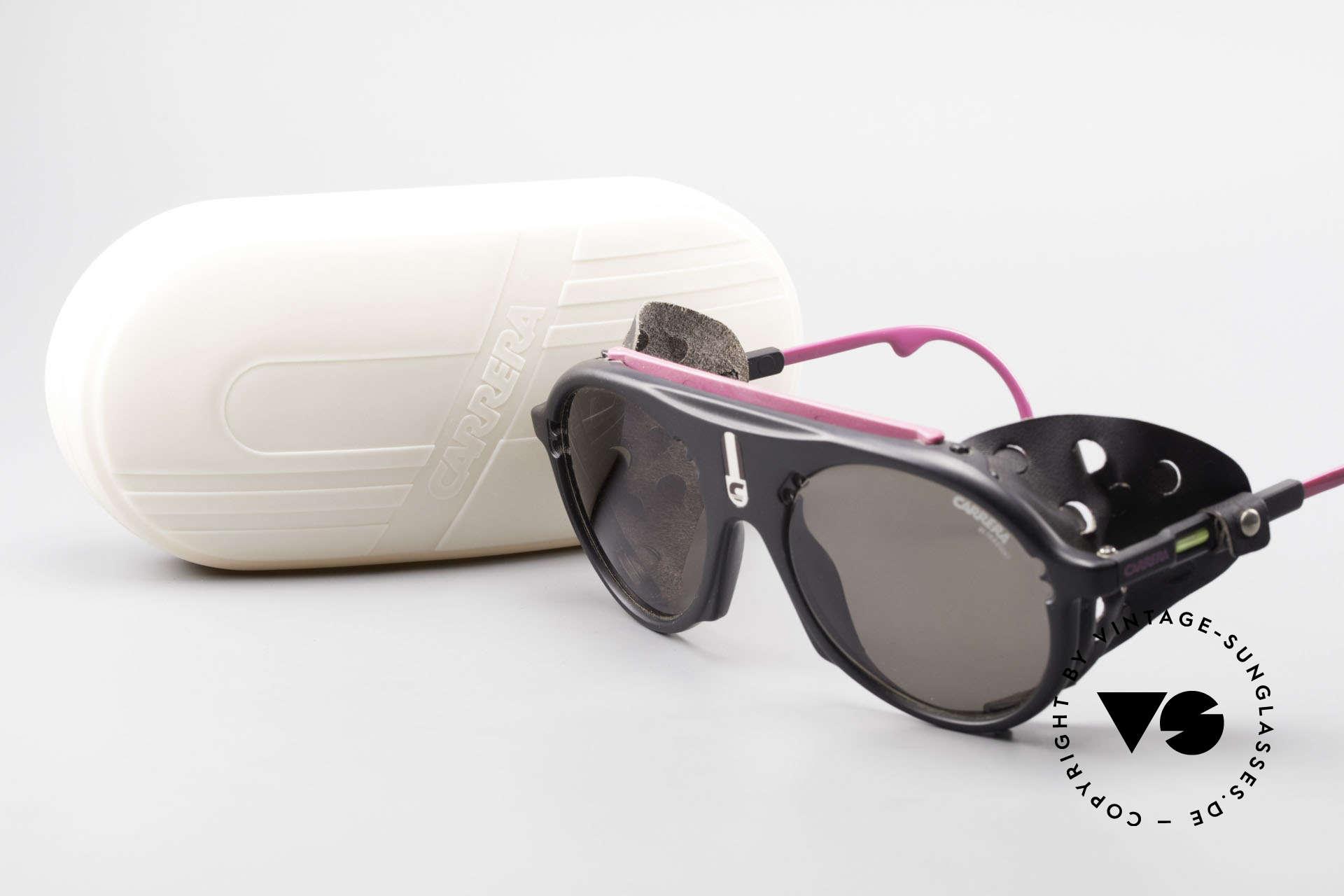 Carrera 5436 Water & Ice Gletscher Brille, KEINE Retrosonnenbrille; sondern ein 1980er Original!, Passend für Herren und Damen