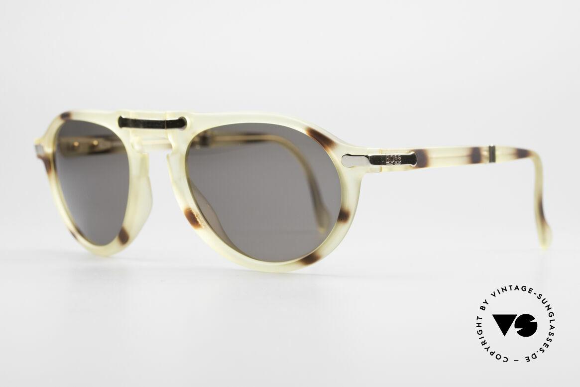 BOSS 5153 Vintage Faltsonnenbrille 90er, Rahmen aus enorm hochwertigem OPTYL-Kunststoff, Passend für Herren