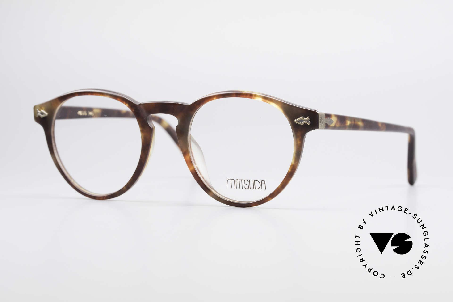Matsuda 2303 Panto Vintage Designerbrille, vintage MATSUDA Brillenfassung aus den 1990ern, Passend für Herren und Damen