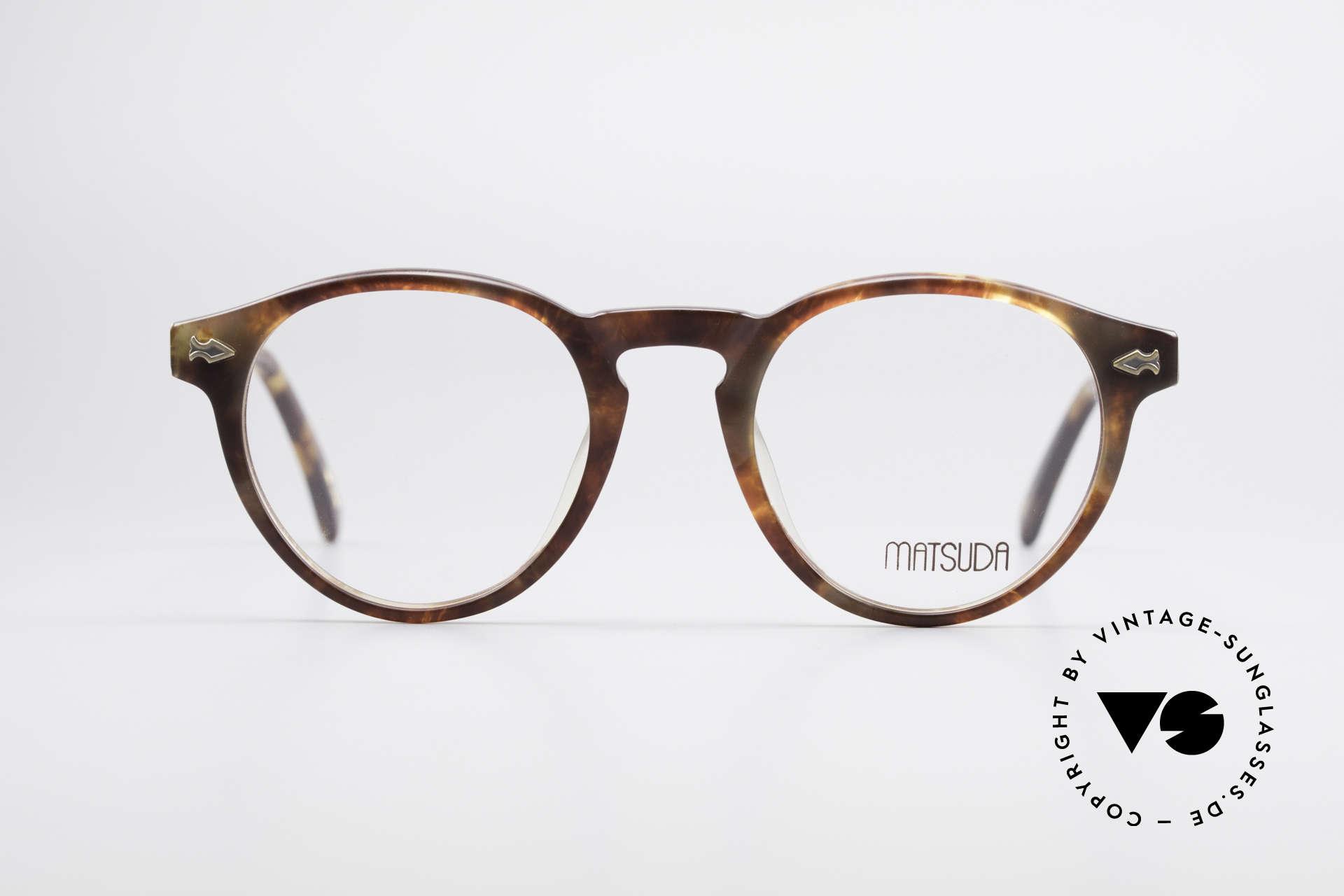 Matsuda 2303 Panto Vintage Designerbrille, Premiumqualität aus der jap. 'Design-Manufaktur', Passend für Herren und Damen