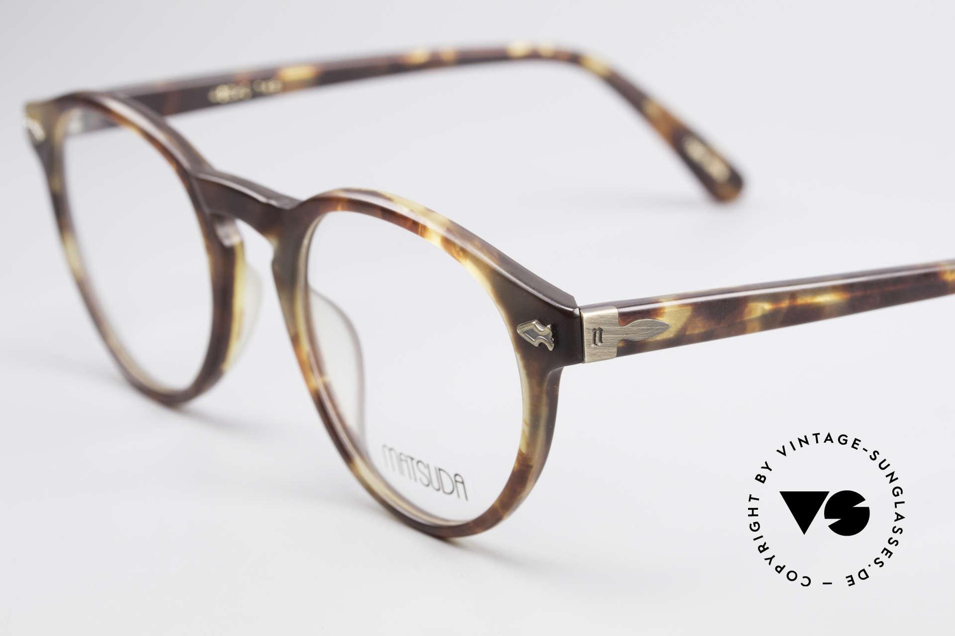 Matsuda 2303 Panto Vintage Designerbrille, mit aufwendigen; subtilen Gravuren / Verzierungen, Passend für Herren und Damen
