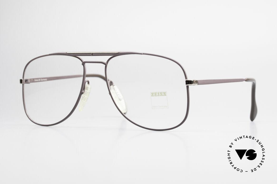 Zeiss 5886 Alte 80er Vintage Brille Aviator, robuste Zeiss vintage Brillenfassung von circa 1986, Passend für Herren
