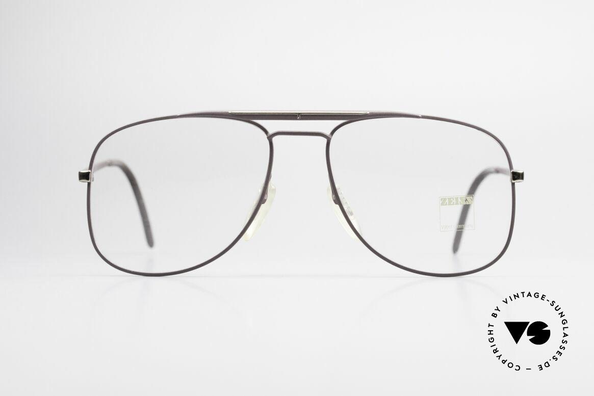 Zeiss 5886 Alte 80er Vintage Brille Aviator, fühlbare 'made in W. GERMANY' Qualität der Fassung, Passend für Herren