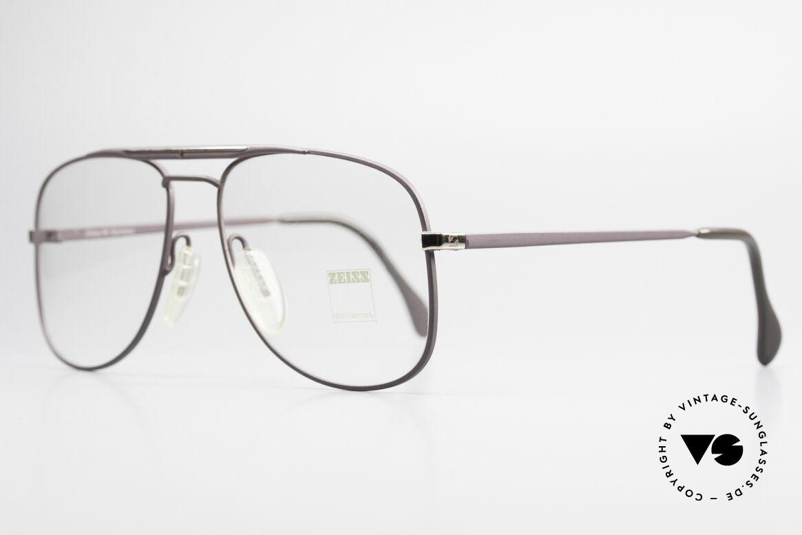 Zeiss 5886 Alte 80er Vintage Brille Aviator, wie aus einem Stück ... und für die Ewigkeit gemacht, Passend für Herren