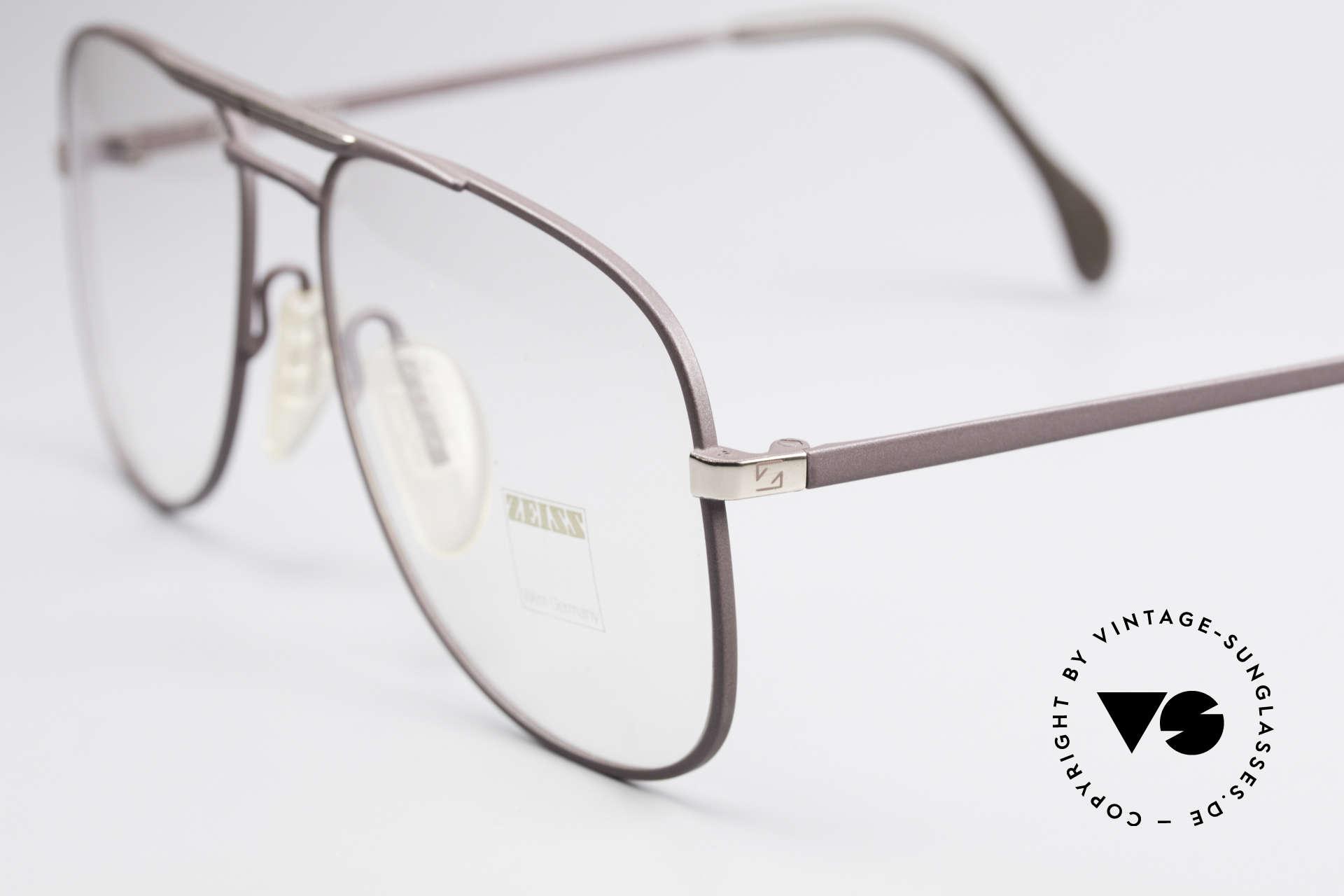 Zeiss 5886 Alte 80er Vintage Brille Aviator, ungetragen (wie alle unsere alten Brillen von ZEISS), Passend für Herren