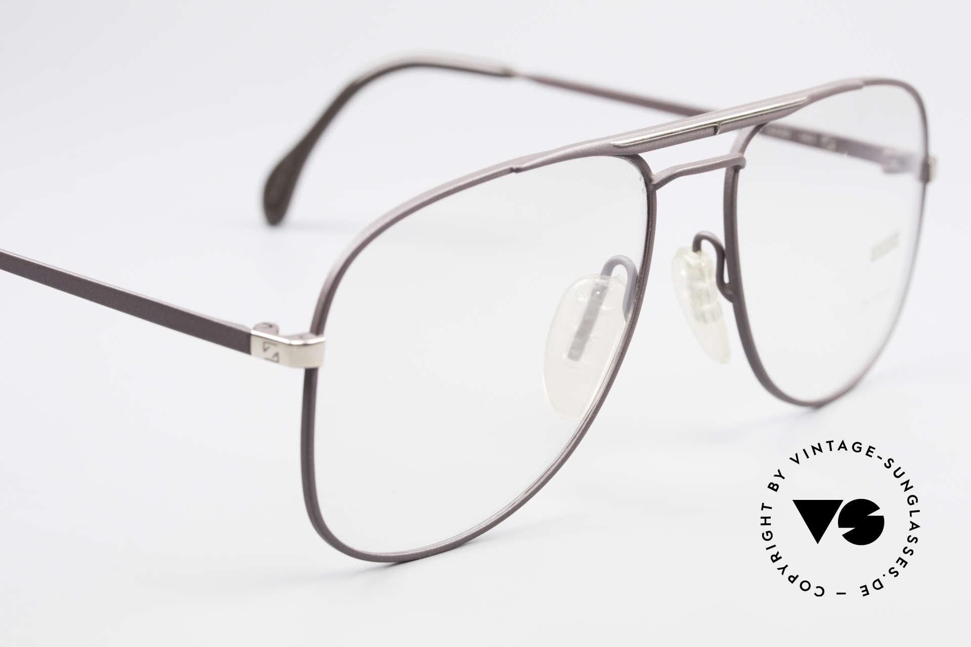 Zeiss 5886 Alte 80er Vintage Brille Aviator, KEINE RETROBRILLE, sondern 100% vintage Original, Passend für Herren