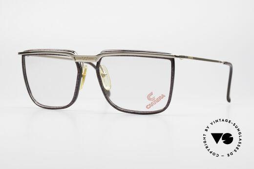 Carrera 5376 Eckige Vintage Brille Carbon Details