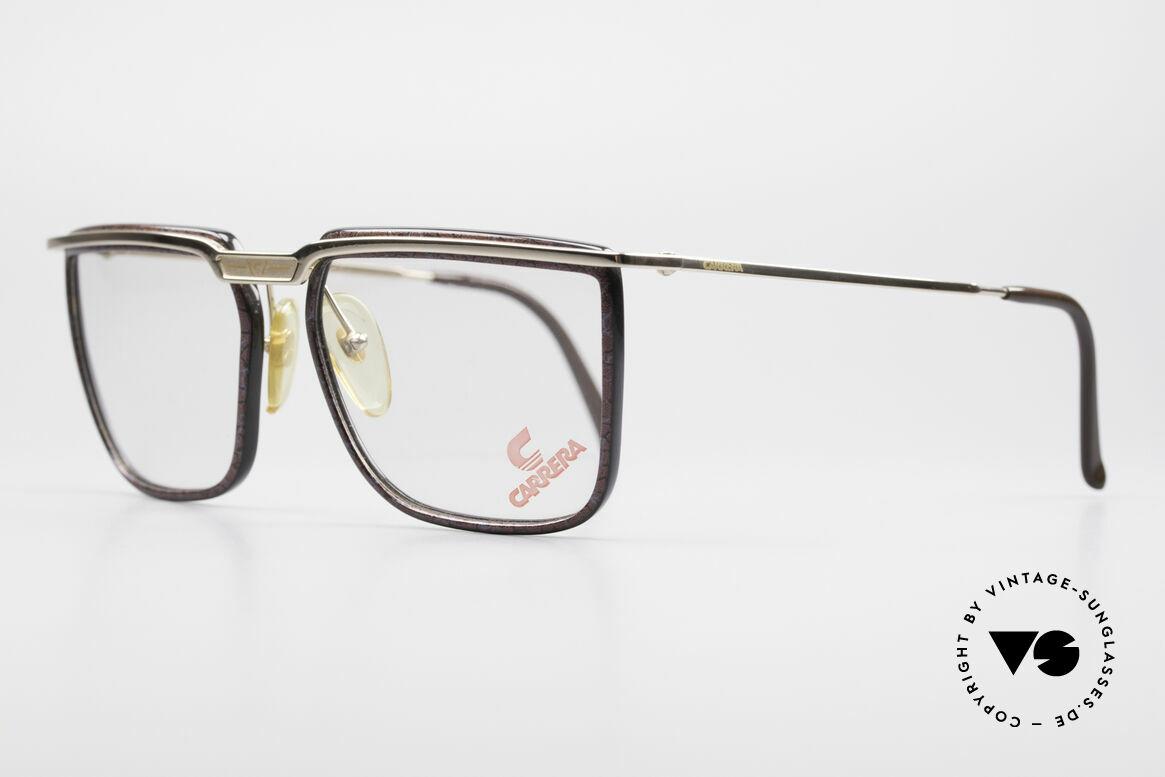 Carrera 5376 Eckige Vintage Brille Carbon, sehr leicht und entsprechend angenehm zu tragen, Passend für Herren