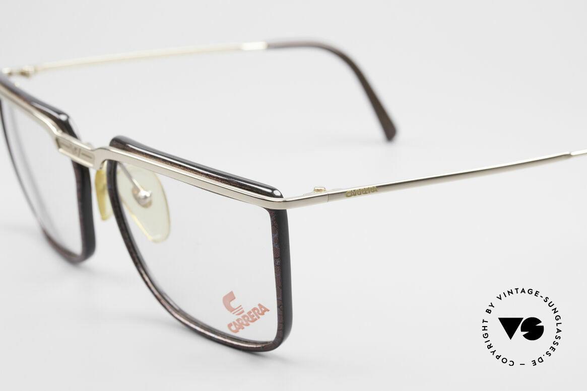 Carrera 5376 Eckige Vintage Brille Carbon, zudem mit aufwendiger Lackierung (lila/schwarz), Passend für Herren