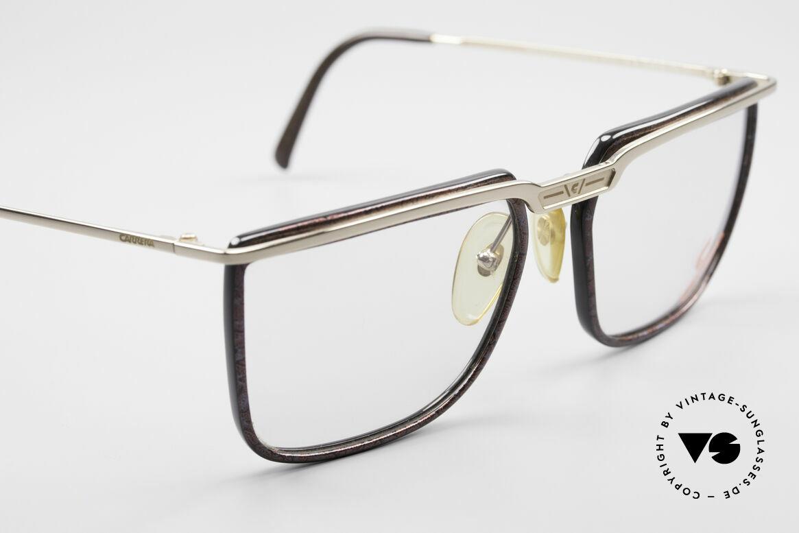 Carrera 5376 Eckige Vintage Brille Carbon, ungetragen (mit einem Stoffbeutel von MOVADO), Passend für Herren