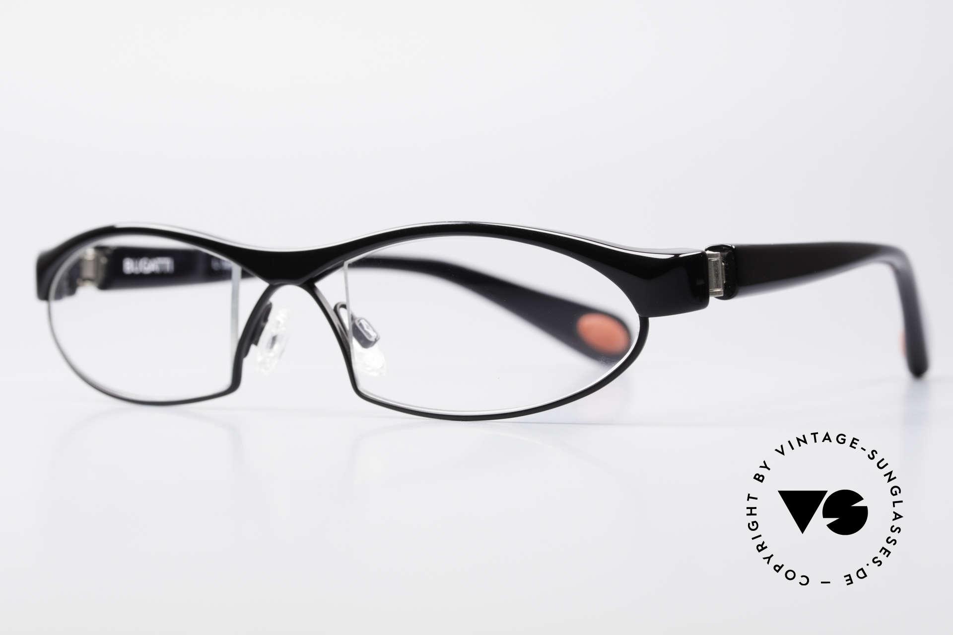 Bugatti 370 Odotype Herren Designer Brille Top, ergonomischer Rahmen mit Federscharnieren, Passend für Herren