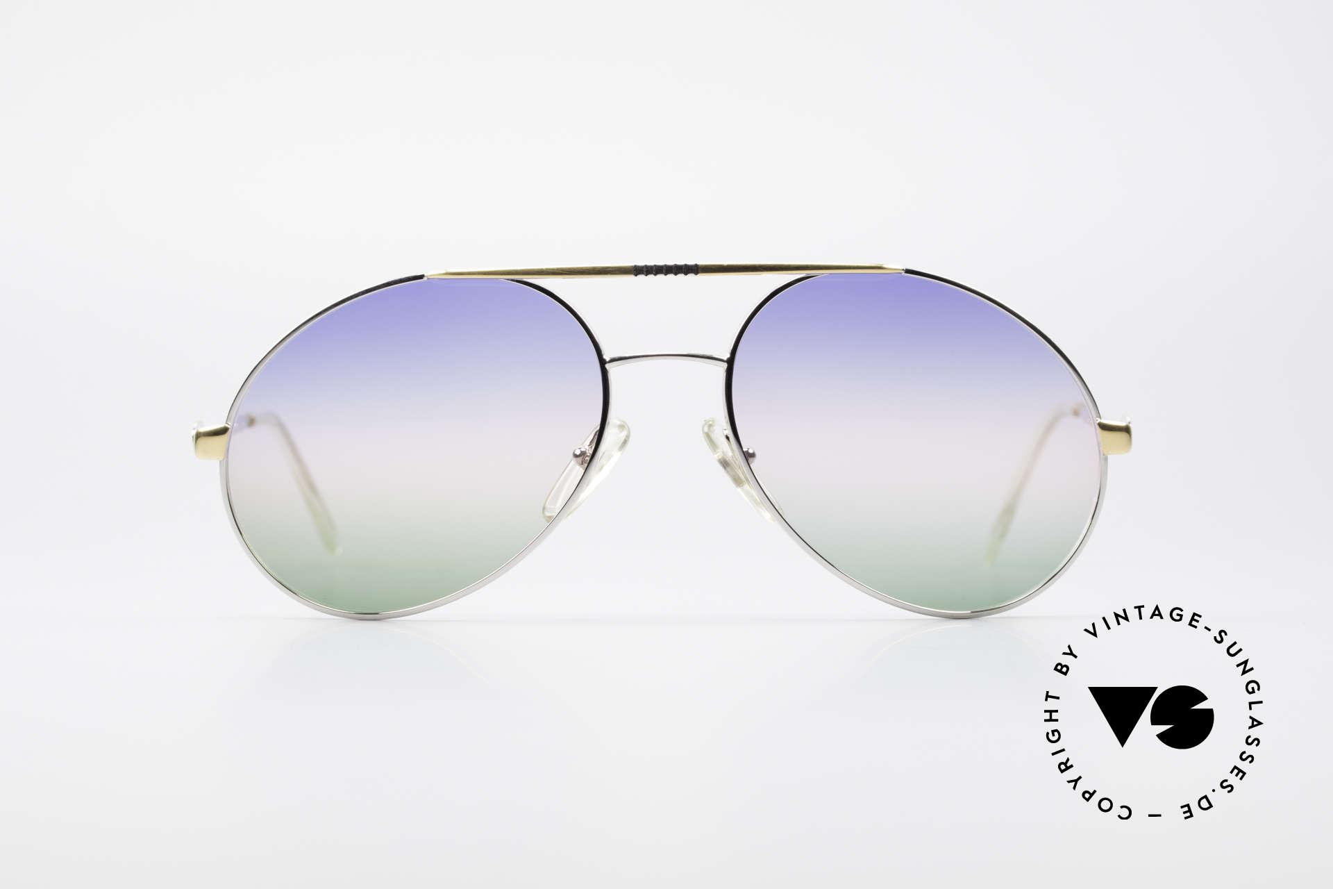 Bugatti 65982 Rare Vintage 80er Sonnenbrille, legendäre Bugatti Brillenform in Top-Qualität, Passend für Herren