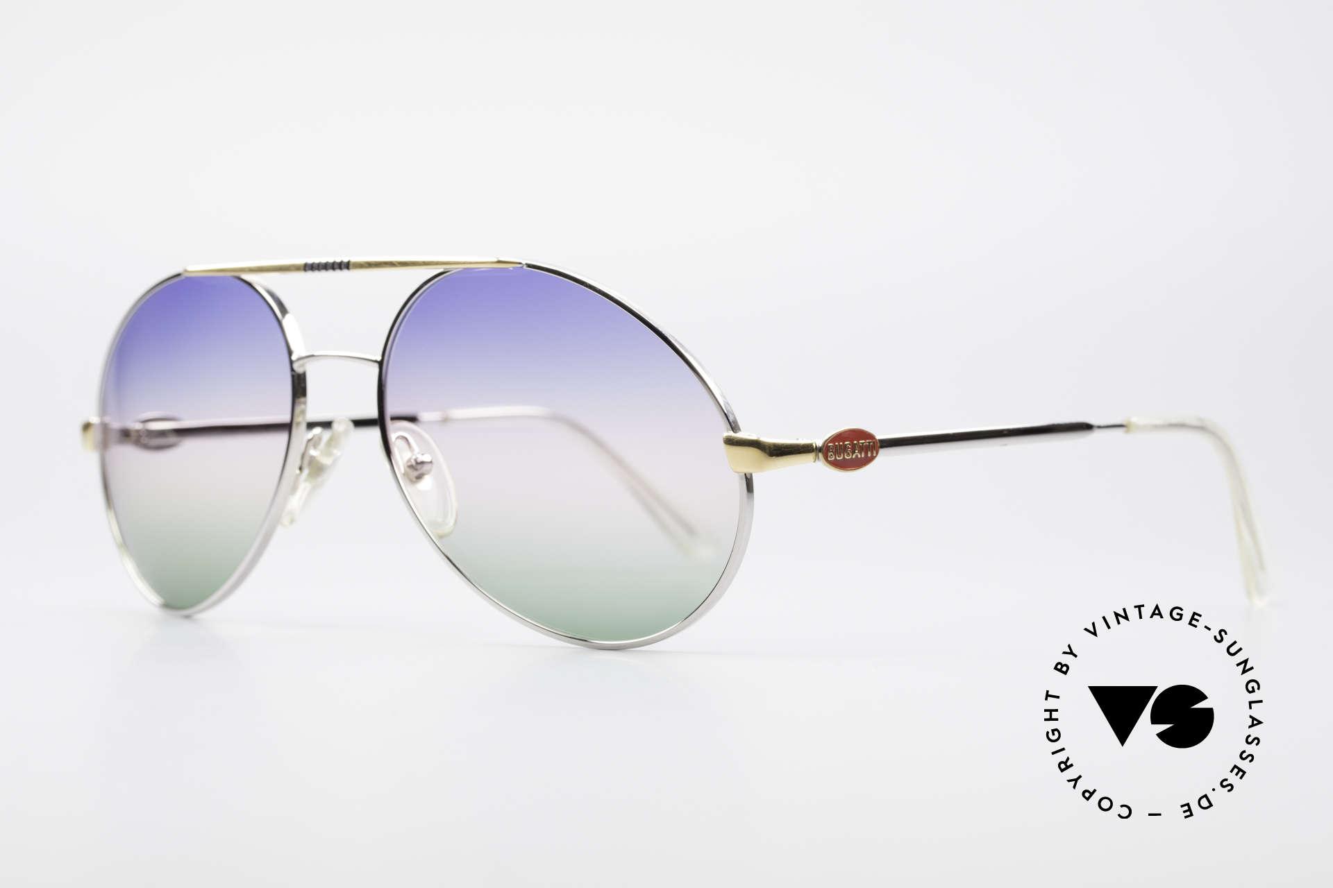 Bugatti 65982 Rare Vintage 80er Sonnenbrille, grandiose Kombination von Rahmen & Gläsern, Passend für Herren