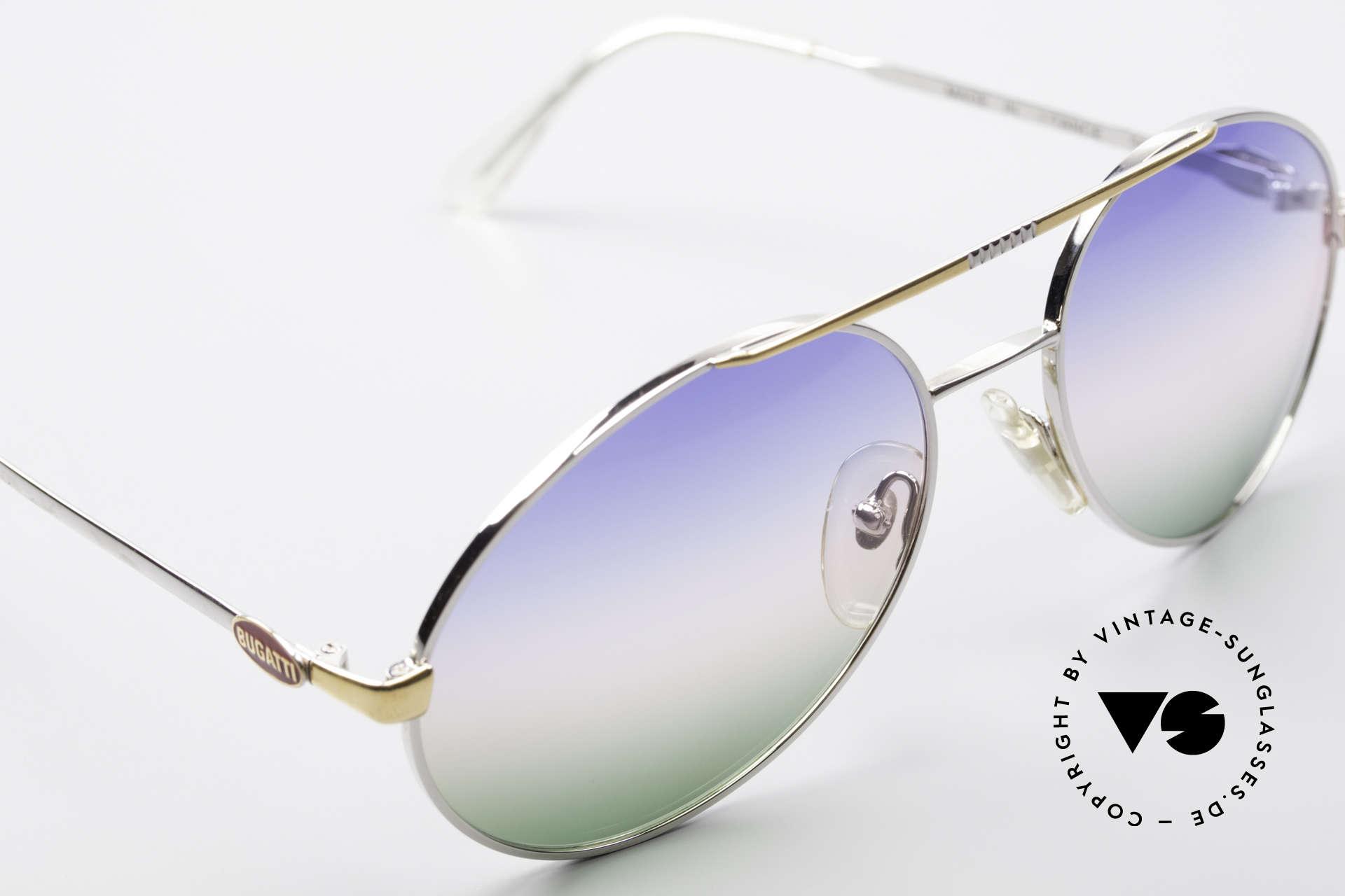 Bugatti 65982 Rare Vintage 80er Sonnenbrille, ungetragen (wie alle unsere VINTAGE Bugattis), Passend für Herren
