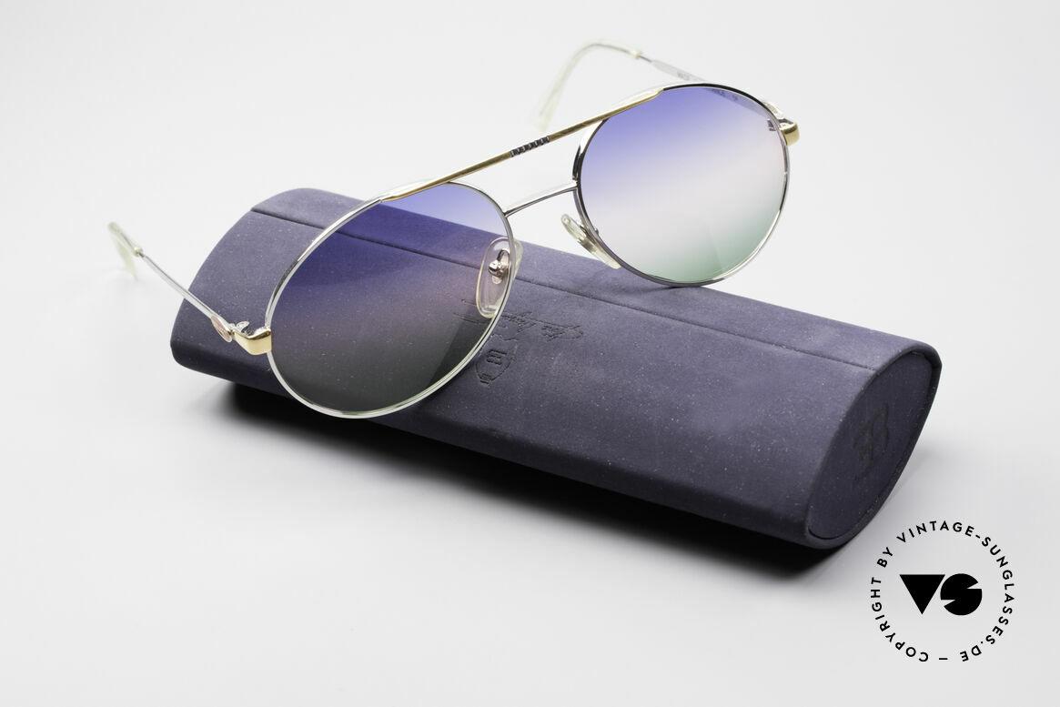 Bugatti 65982 Rare Vintage 80er Sonnenbrille, Größe: large, Passend für Herren