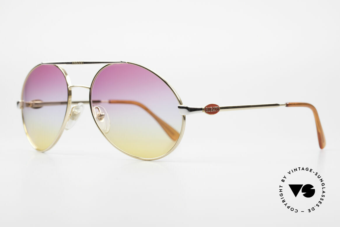 Bugatti 64320 Rare 80er Sonnenbrille Vintage, grandiose Kombination von Rahmen & Gläsern, Passend für Herren