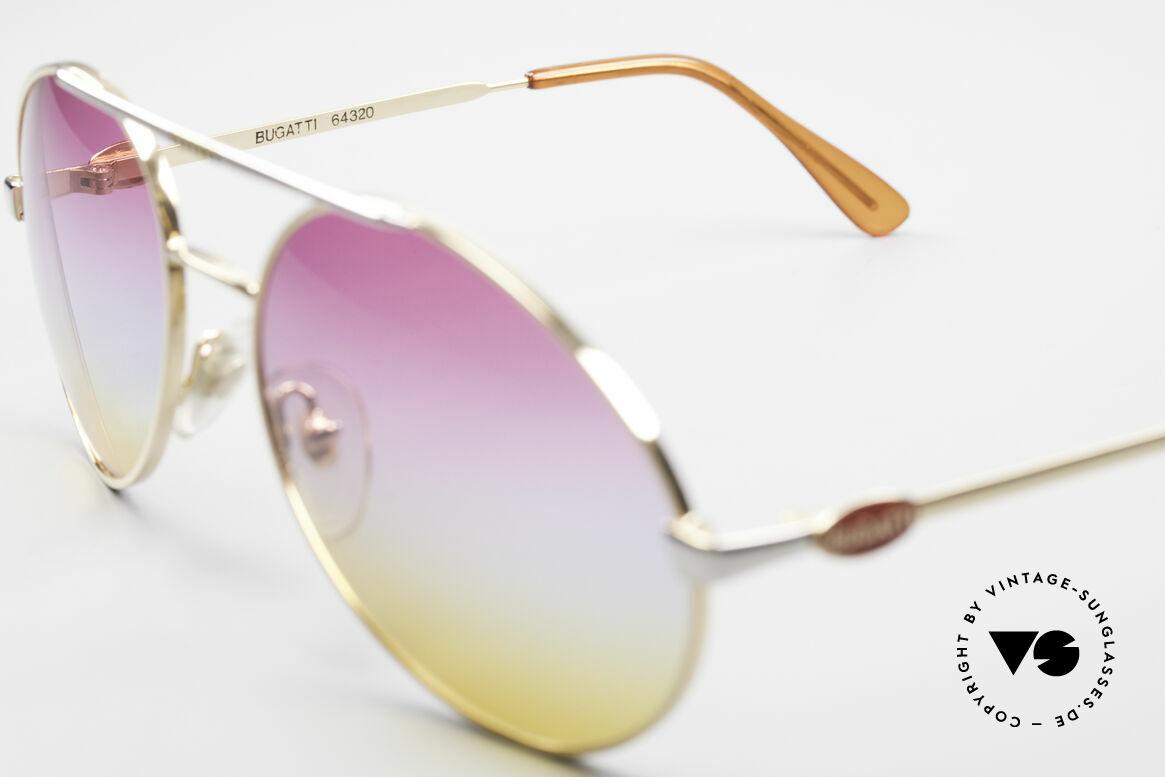 Bugatti 64320 Rare 80er Sonnenbrille Vintage, ungetragen (wie alle unsere VINTAGE Bugattis), Passend für Herren