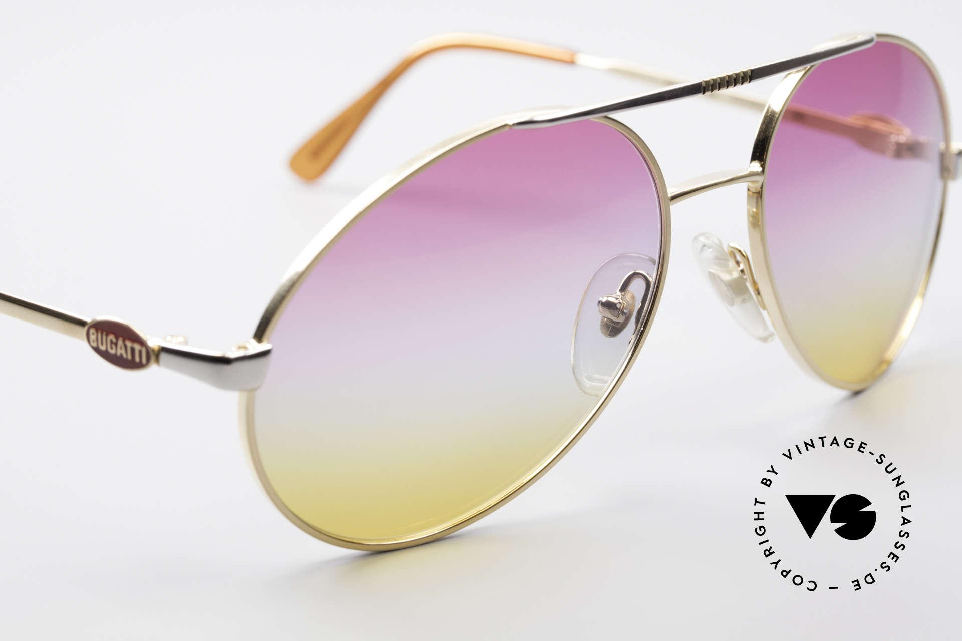 Bugatti 64320 Rare 80er Sonnenbrille Vintage, KEINE RETROBRILLE; eine alte Original-Brille!, Passend für Herren