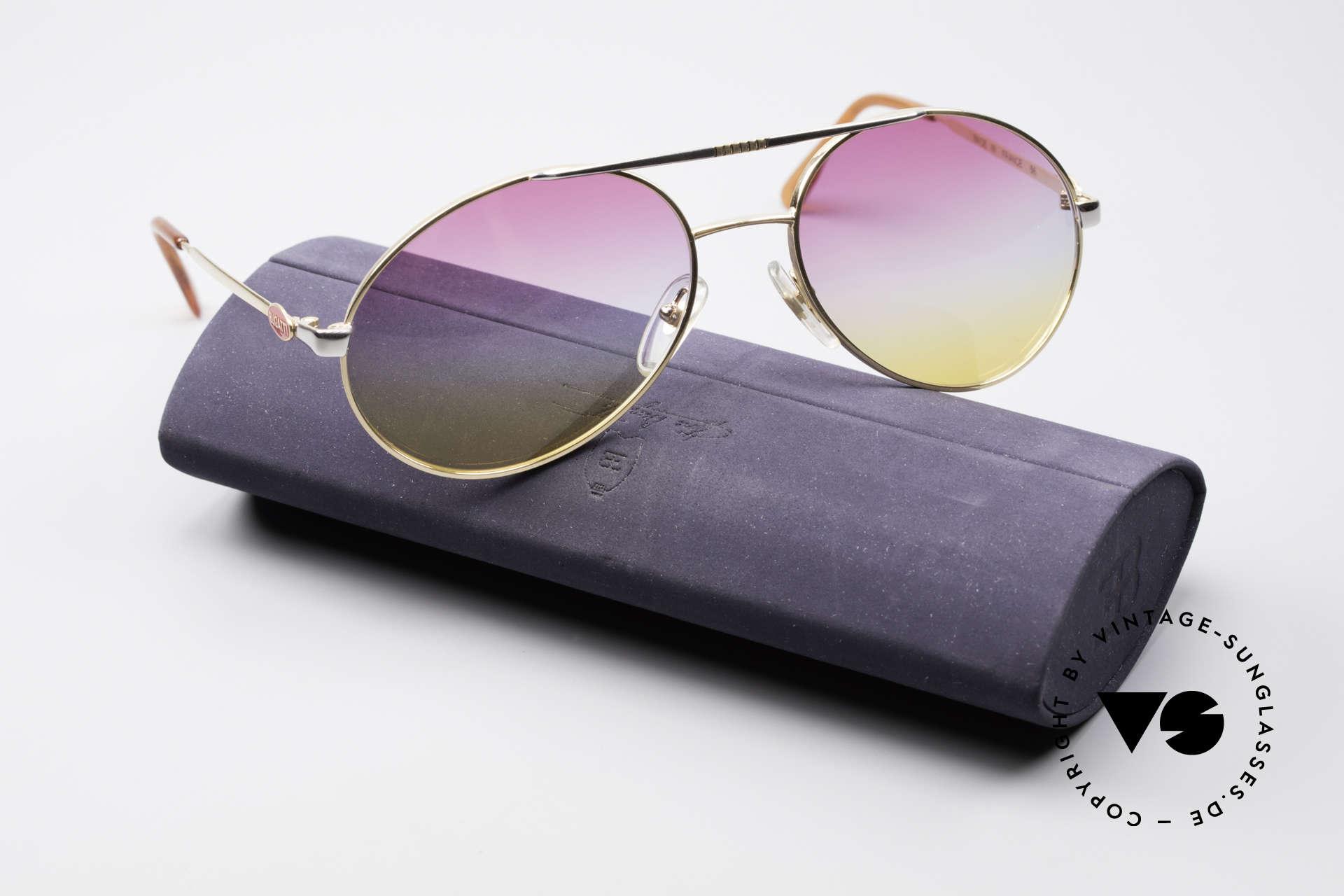 Bugatti 64320 Rare 80er Sonnenbrille Vintage, Größe: large, Passend für Herren