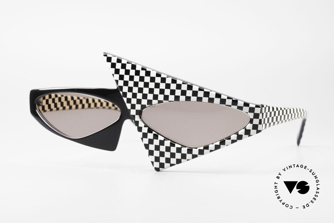 Alain Mikli 030 / 118 Haute Couture Fashion Show, verrückte ALAIN MIKLI Sonnenbrille von 1982, Passend für Damen
