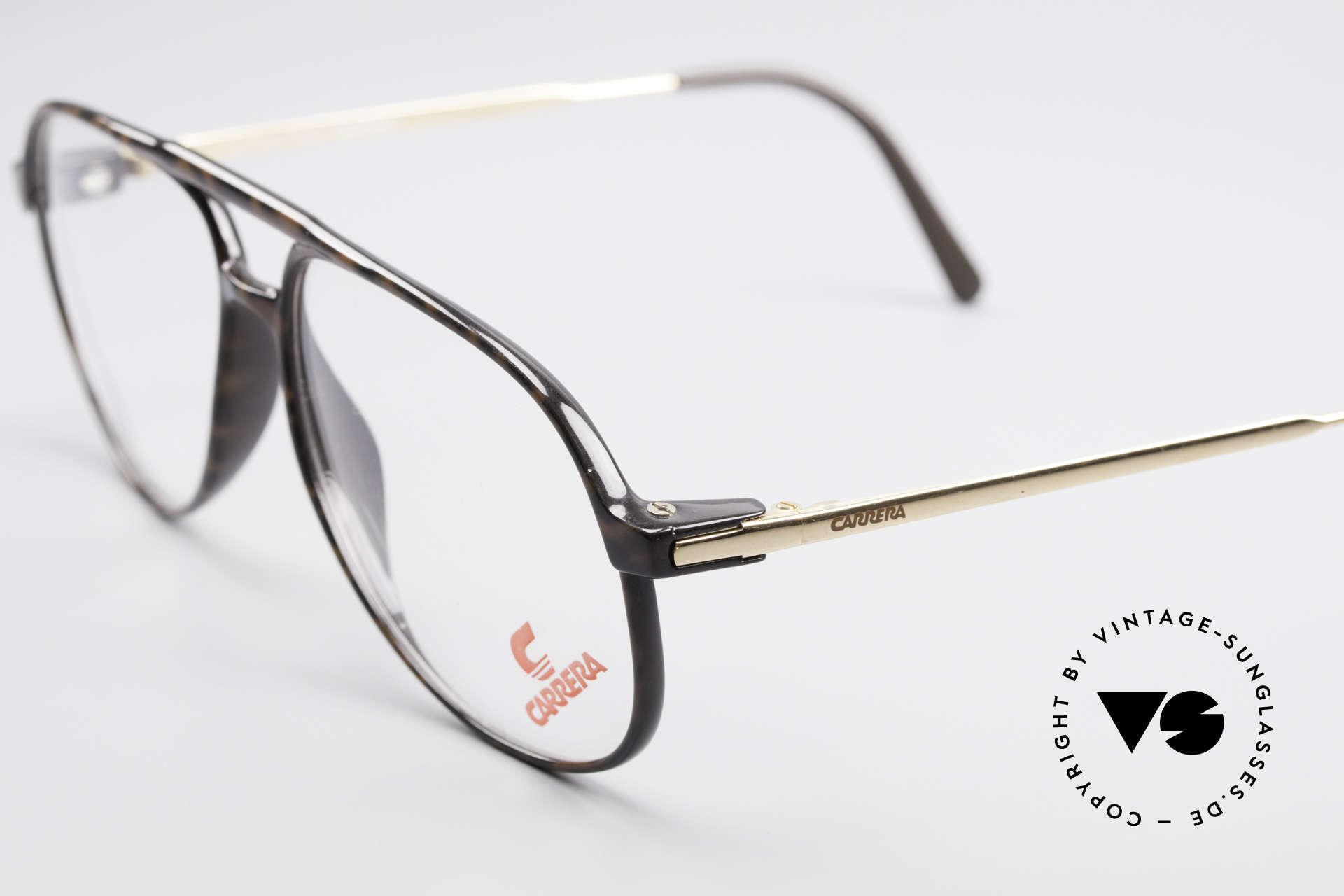 """Carrera 5355 Kohlefaser Vintage Brille 90er, klassische Pilotenform-Brille mit """"Doppelbrücke"""", Passend für Herren"""