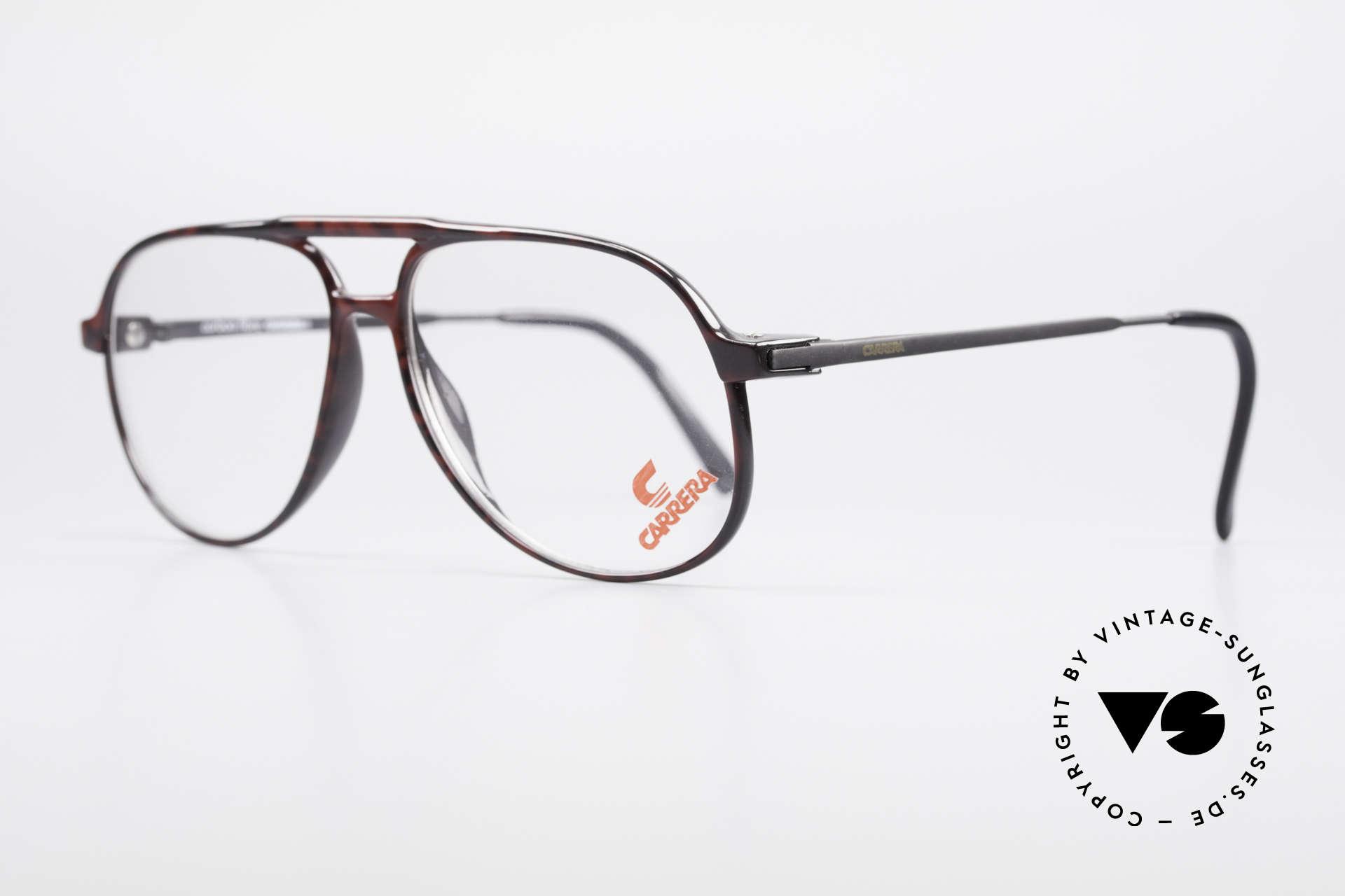 Carrera 5355 Kohlefaser Aviator Brille 90er, enorm komfortabel und sehr angenehm zu tragen, Passend für Herren
