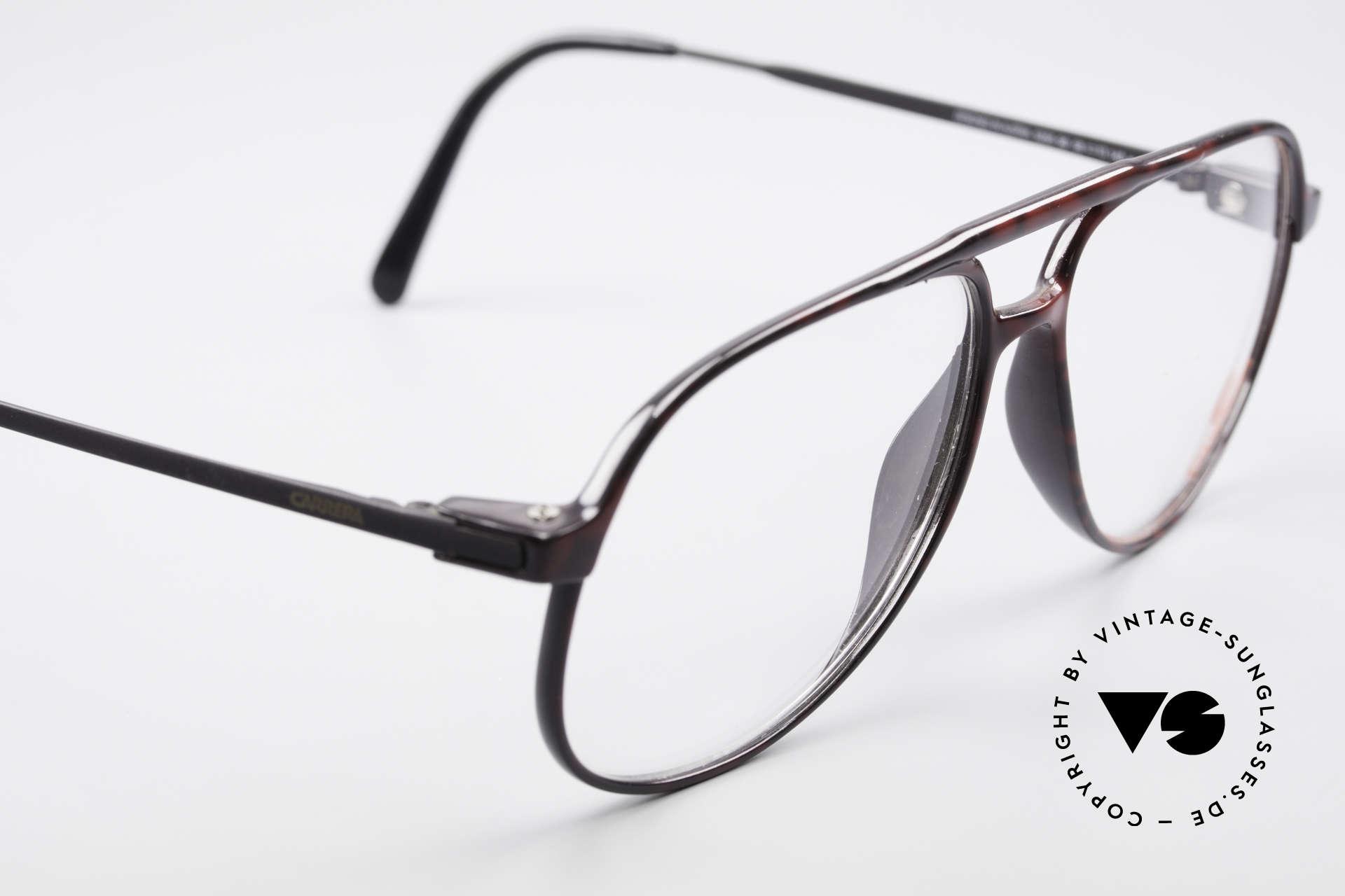Carrera 5355 Kohlefaser Aviator Brille 90er, noble Kolorierung/Muster in einer Art 'wurzelholz', Passend für Herren