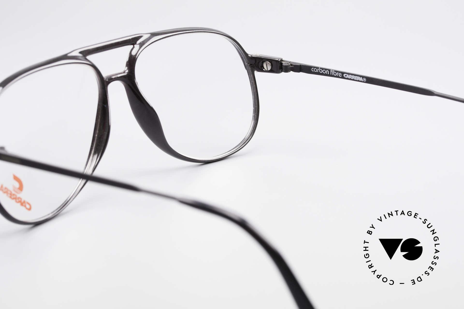 Carrera 5355 Kohlefaser Aviator Brille 90er, ungetragen; mit einem vintage Beutel von Movado, Passend für Herren