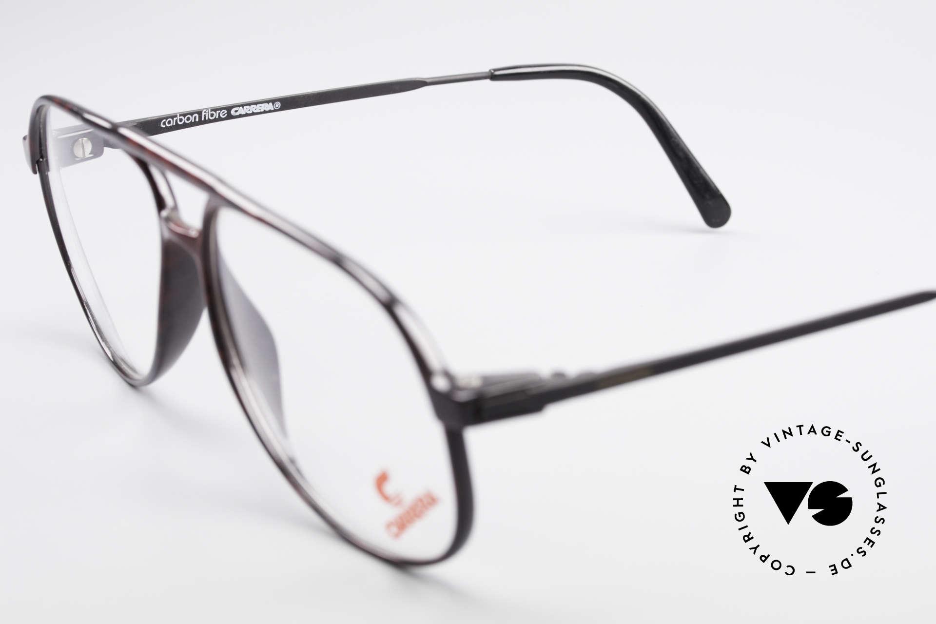 Carrera 5355 Kohlefaser Aviator Brille 90er, KEINE Retrobrille, sondern ein altes 90er Original, Passend für Herren