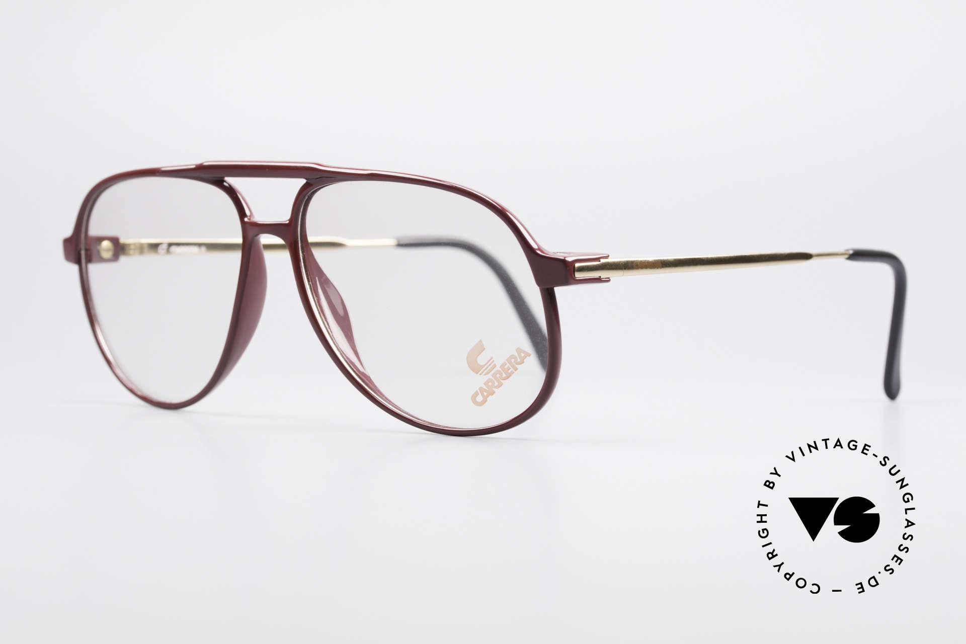 Carrera 5355 Kohlefaser Brille 90er Original, enorm komfortabel und sehr angenehm zu tragen, Passend für Herren