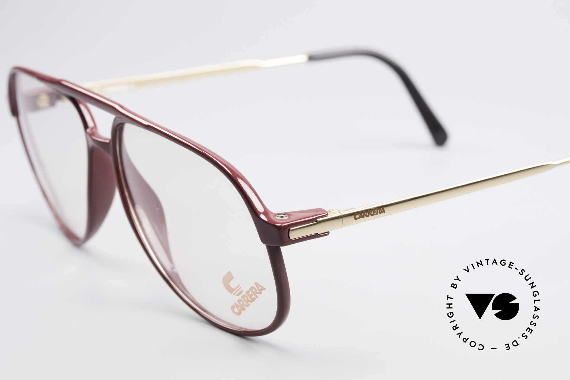"""Carrera 5355 Kohlefaser Brille 90er Original, klassische Pilotenform-Brille mit """"Doppelbrücke"""", Passend für Herren"""