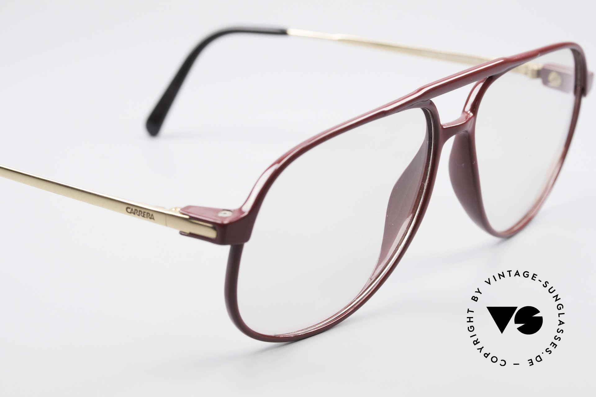 Carrera 5355 Kohlefaser Brille 90er Original, noble Kolorierung in einer Art weinrot / rostbraun, Passend für Herren