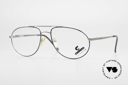 Carrera 5798 Titanium Vintage Brille 90er Details