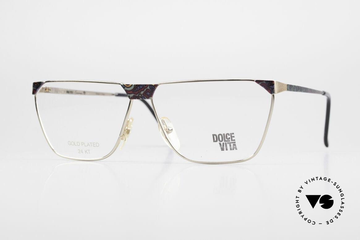 Casanova NM22 Dolce Vita 24kt Vintage Brille, alte, vintage Casanova Dolce Vita Brille von ca. 1985, Passend für Herren und Damen