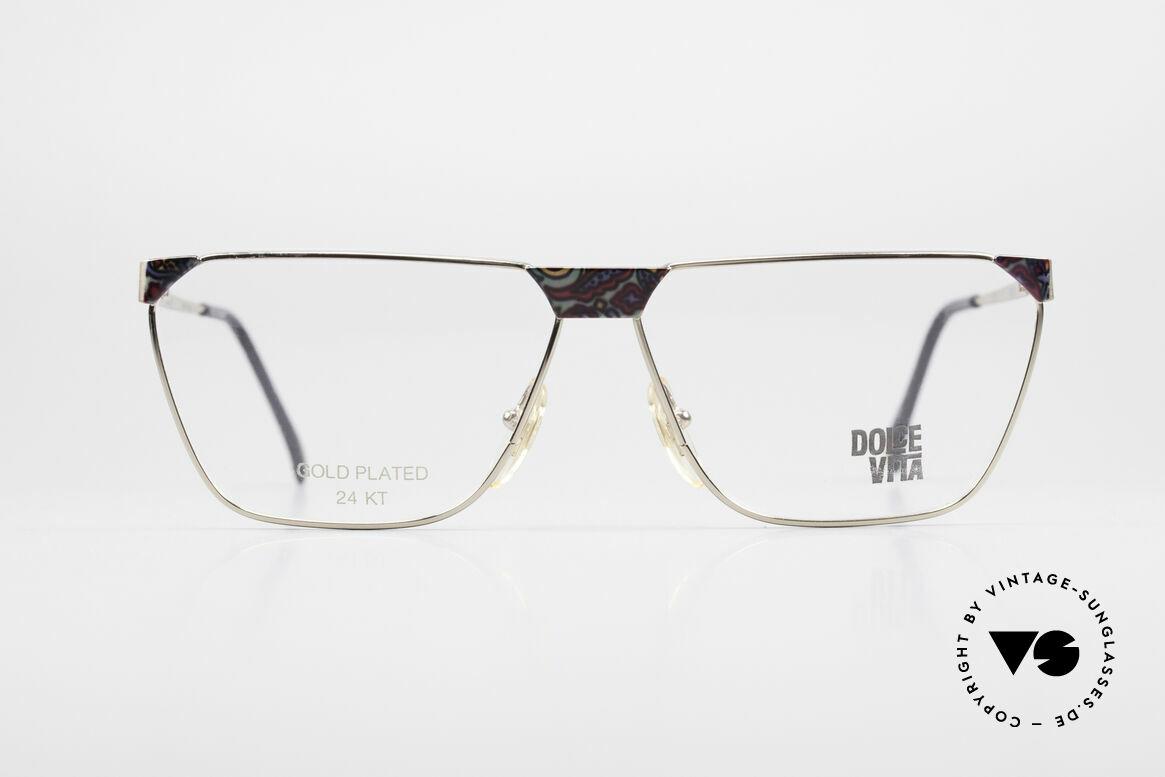 Casanova NM22 Dolce Vita 24kt Vintage Brille, BUNTES Rahmenmuster auf der Front und den Bügeln, Passend für Herren und Damen