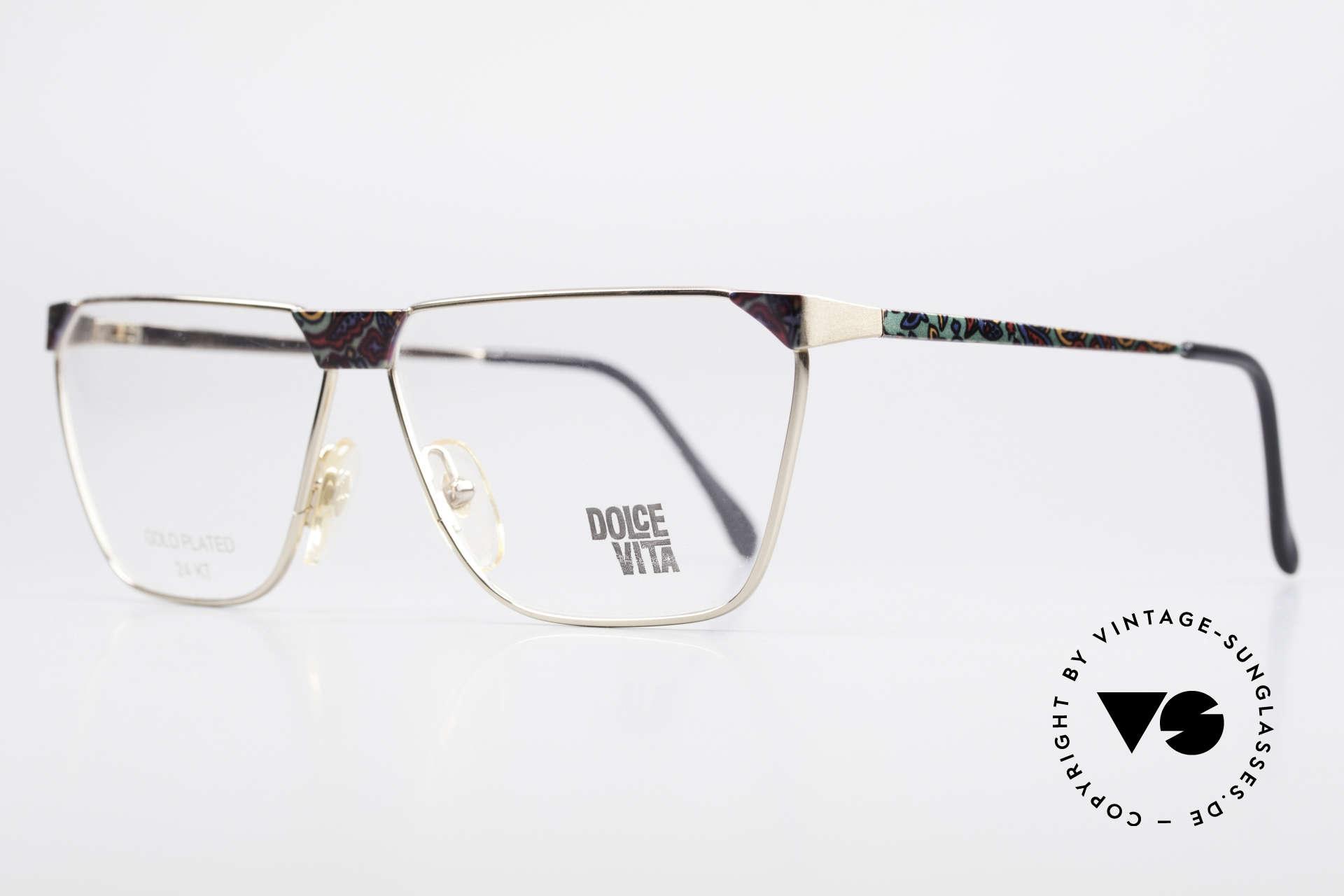 Casanova NM22 Dolce Vita 24kt Vintage Brille, vergoldete Metall-Fassung (damals selbstverständlich), Passend für Herren und Damen